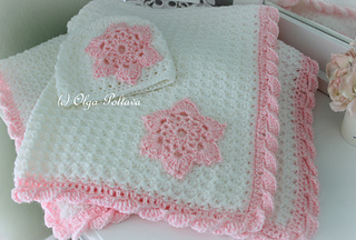 Ravelry  Star Stitch Baby Blanket and Hat pattern by Olga Poltava 7138e1ee18a