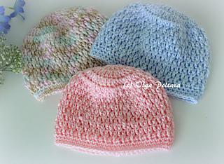 Ravelry  Newborn Baby Beanie Hat pattern by Olga Poltava fe2974bbc09