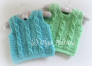 88b3a916d Ravelry  Baby Vest with Cables pattern by Olga Poltava