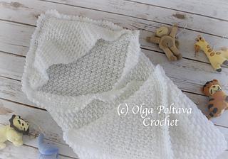 2414a905b Ravelry  Hooded Baby Blanket pattern by Olga Poltava