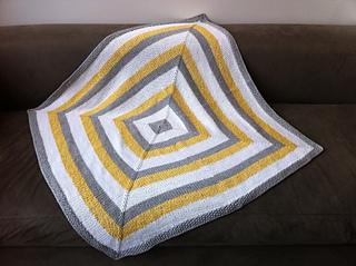 f5a0291db9c4 Ravelry  Square Stripes Garter Stitch Baby Blanket pattern by Elaine ...