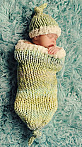 Ravelry: Sweet Dreams Baby Cocoon and Hat Set pattern by Tricia Drake