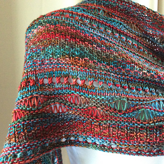 a9e15cfd2 Ravelry  Stitch Sampler Shawl pattern by On This Day Designs