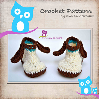 Ravelry puppy dog booties pattern by paula m dt1010fo