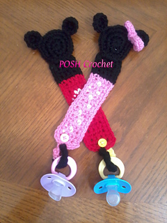 Ravelry Mickey Minnie Mouse Pacifier Holder Pattern By Ariana Meza
