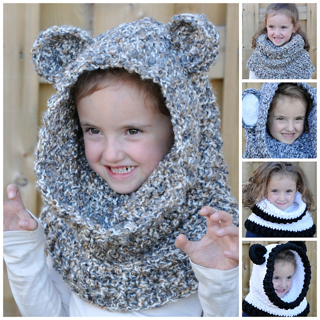 Unbearably Cute Hooded Cowl Pattern By Sincerely Pam