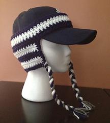 Ravelry  Team Spirit Baseball Cap Ear Warmer pattern by Pamela Bastian bb7dadf0d88