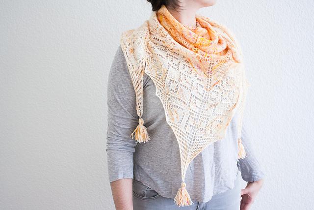 châle tricoté Meera par Tisserin Coquet