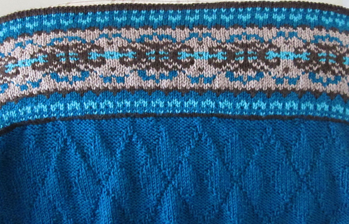 Ravelry: Fair Isle Border Blanket and Pillow (Blanket) pattern by ...