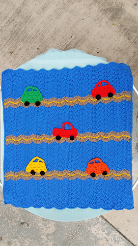 Ravelry Cars Blanket Pattern By Mary Maxim