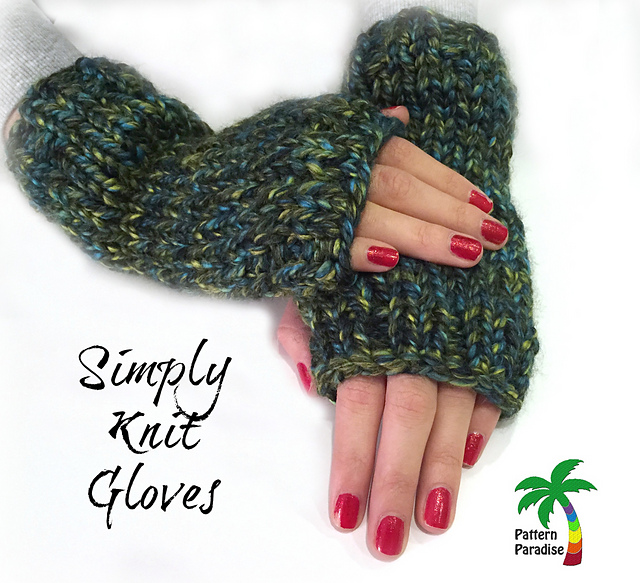 Ravelry Simply Knit Gloves Pattern By Maria Bittner