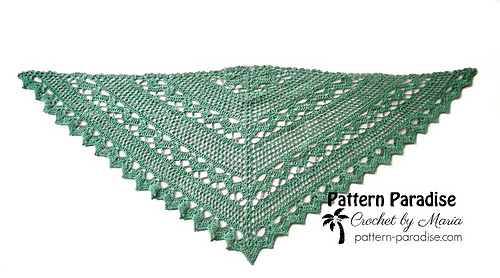 Spring Showers Shawl Pattern By Maria Bittner