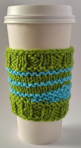 Ravelry Cup Cozy Wave Knit Pattern By Sandra Clarke