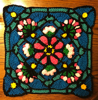 52d7d3379a9 Ravelry  Dragon Flower Stained Glass Square pattern by Shawn Torres