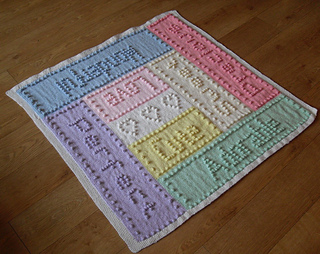 Ravelry Sweet Dreams Bobble Baby Blanket Words Pattern By Peach