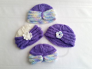 Ravelry  Knitted Baby Turban pattern by Mary Robinson cd665dec533