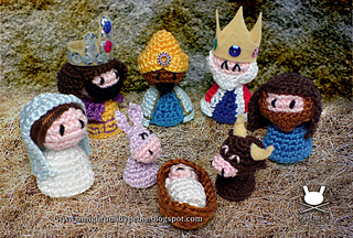 Free Amigurumi Nativity Pattern : Ravelry holy family nativity set pattern by pebie crochet