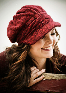 Hannah Newsboy Hat pattern by Lux Adorna Knits