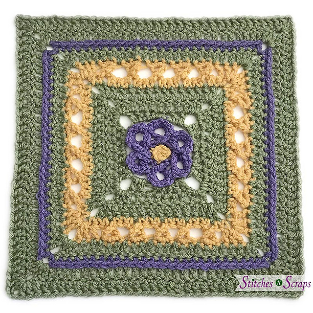 Ravelry Loopy Flower Square Pattern By Pia Thadani