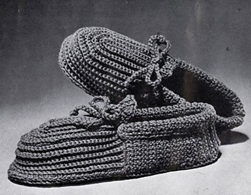 Ravelry Mens Crocheted Slippers Pattern By Coats Design Team