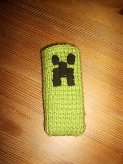Ravelry Minecraft Creeper Handy Socke Häkeln Pattern By Julia Marquardt