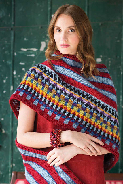 Ravelry: #11 Fair Isle Blanket Shawl pattern by Brandon Mably