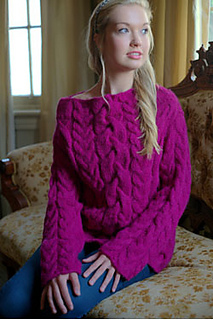 Ravelry 2735 Oversized Cable Pullover Pattern By Plymouth