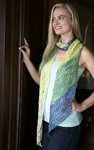 Ravelry F702 Striped Diagonal Scarf Pattern By Vanessa Ewing
