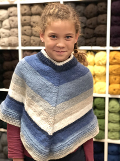 Ravelry F829 Girl S Poncho Pattern By Plymouth Yarn