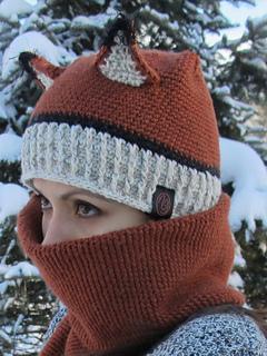 0df929090ea Ravelry  Fox Hat and Scarf Combo pattern by Monica Gallardo