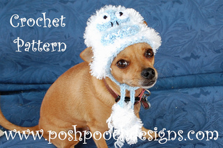 3045de80838 Ravelry  Abominable Snowman Dog Hat pattern by Sara Sach