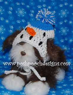 Ravelry  Snowman Medium and Large Dog Hat Crochet Pattern pattern by Sara  Sach 8598f94b215