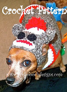 Sock Monkey Dog Sweater And Hat Set Pattern By Sara Sach