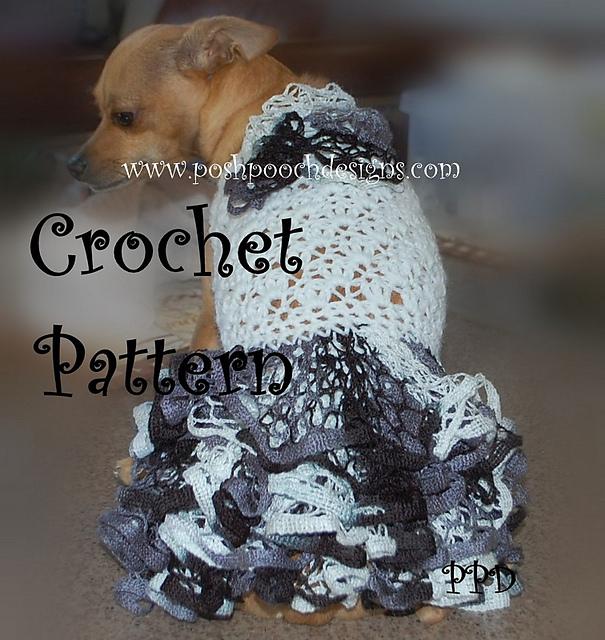 Ravelry Ruffle Butt Dog Sweater Dress Pattern By Sara Sach