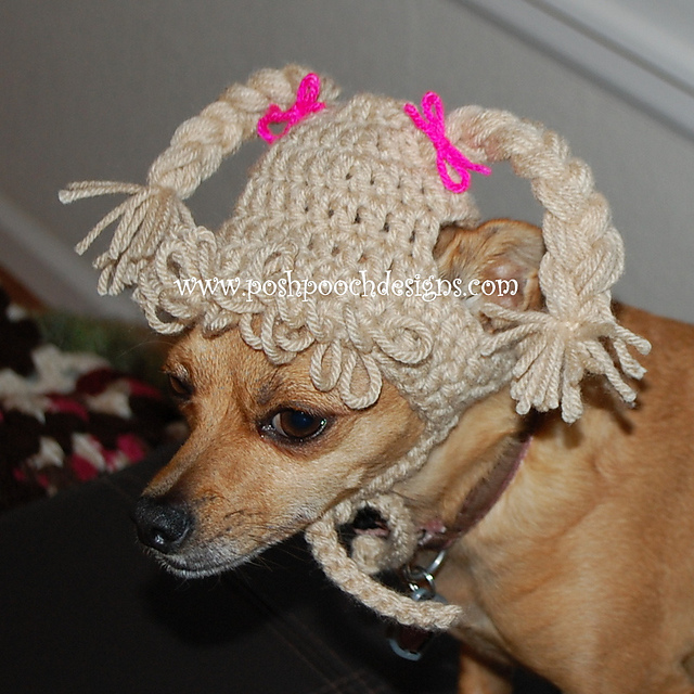 Ravelry  Cabbage Patch Dog Hat - Dog beanie pattern by Sara Sach 8b3a23ab8f3