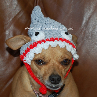 56f31352151 Ravelry  Shark Dog Hat Small pattern by Sara Sach