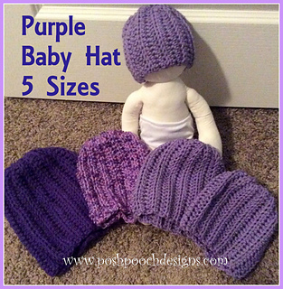 Ravelry Purple Baby Hat Pattern By Sara Sach
