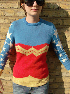 Wonder Woman Jumper pattern by Kirsty Lothian