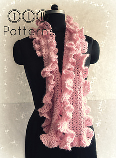 Ravelry Scarf With Ruffled Edges Pattern By Tlh Patterns