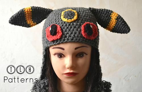 Ravelry Pokemon Umbreon Hat Pattern By Tlh Patterns