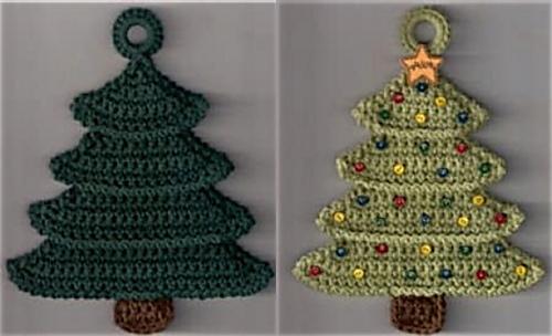 Ravelry Christmas Tree Potholder Pattern By Priscilla Hewitt