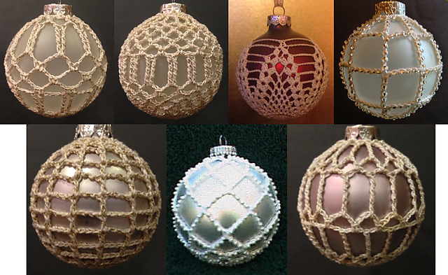 - Ravelry: 7 Christmas Ball Covers Pattern By Priscilla Hewitt
