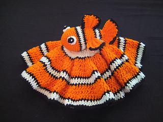 d881c728d856b Ravelry  Clownfish Lovey Blanket pattern by DACcrochet