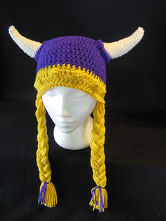 Ravelry  Viking Hat with Braids pattern by DACcrochet 519ac8a269e