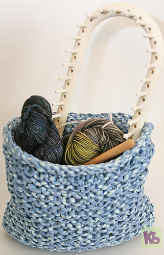 Ravelry Loom Knitted Basket Pattern By Isela Phelps