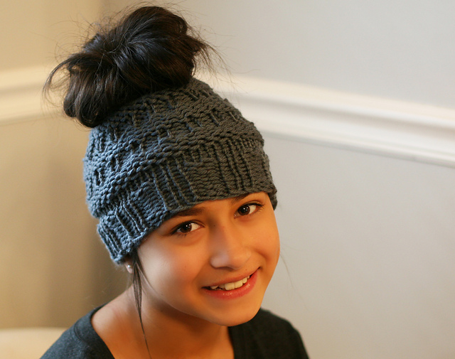 Ravelry Messy Bun Hat III Pattern By Isela Phelps Gorgeous Bun Hat Pattern