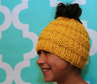 Ravelry Messy Bun Hat Pattern By Isela Phelps
