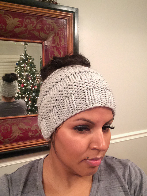 48786dfd424 patterns   Loom Knit and 1 more...   Messy Bun Hat II