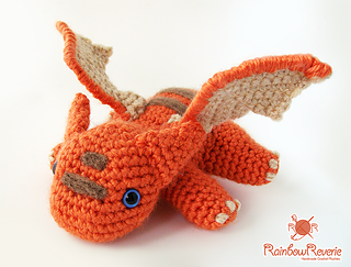 Amigurumi Baby Dragon : Ravelry baby dragon amigurumi plush toy pattern by lily coulombe