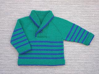 ecd1d03ab Ravelry  Knit Shawl Collar Baby Sweater pattern by Lorraine Pistorio